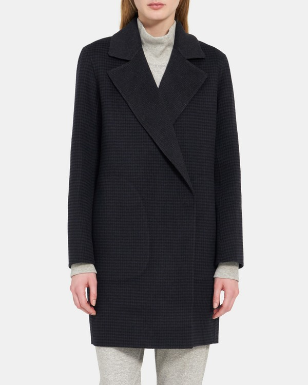 Boy Coat in Double-Face Wool-Cashmere