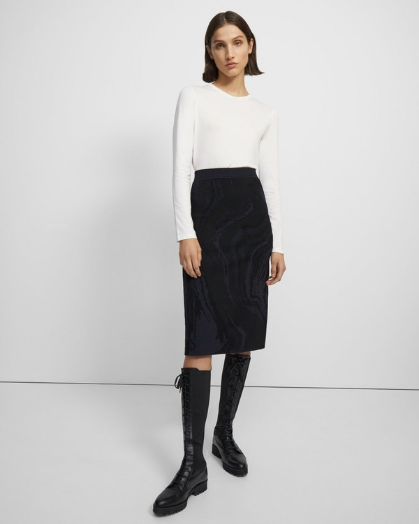 Skirt in Galaxy Stretch Knit