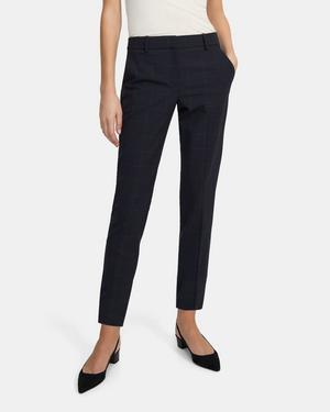 Treeca Pant in Grid Good Wool