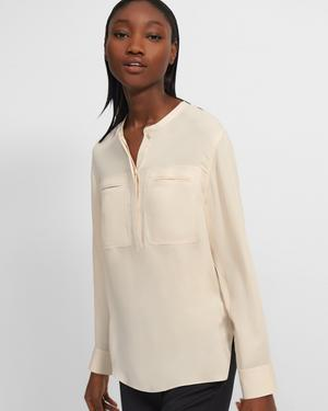 Utility Shirt in Silk Georgette