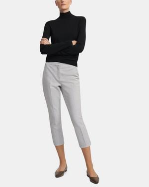 Easy Capri Pant in Double-Face Grid Cotton