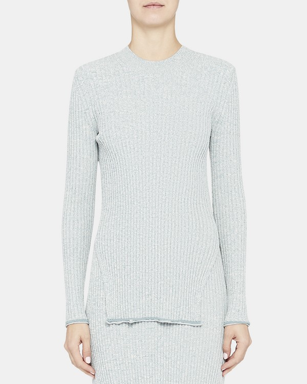 Ribbed Sweater in Compact Knit
