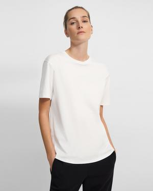 Short-Sleeve Perfect Tee in Cotton Jersey
