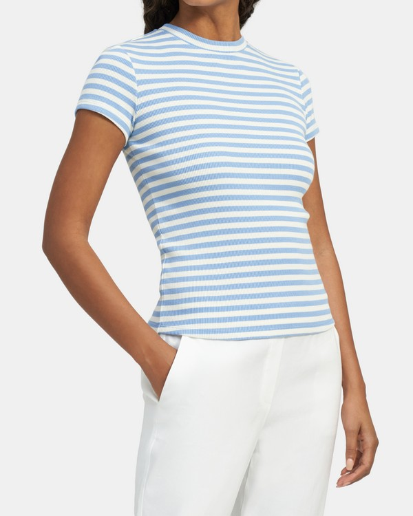 Tiny Tee in Ribbed Modal-Cotton