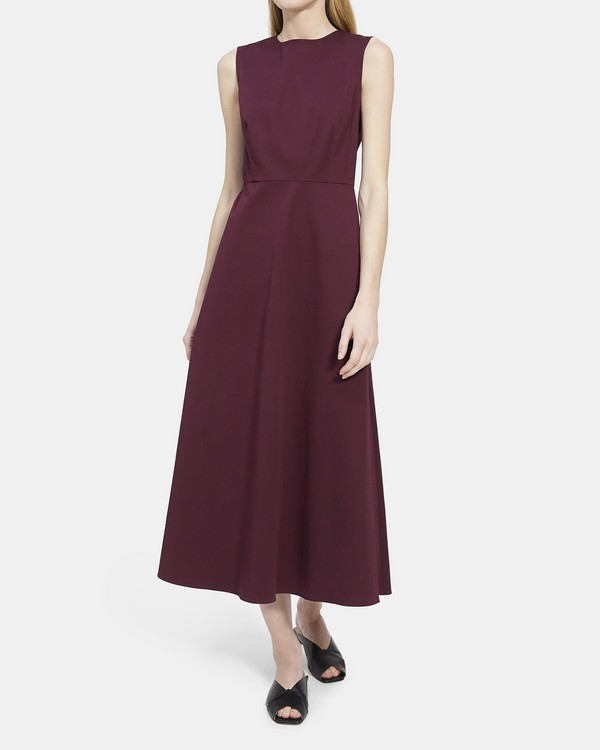 Volume Dart Dress in Stretch Cotton
