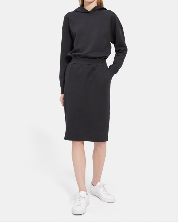 Hoodie Dress in Cotton Jersey