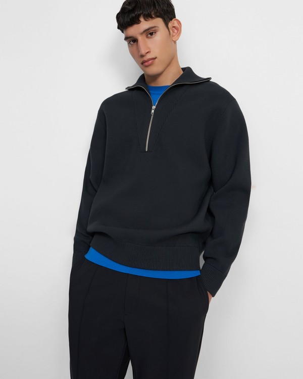 Quarter-Zip Sweater in Fine Bilen