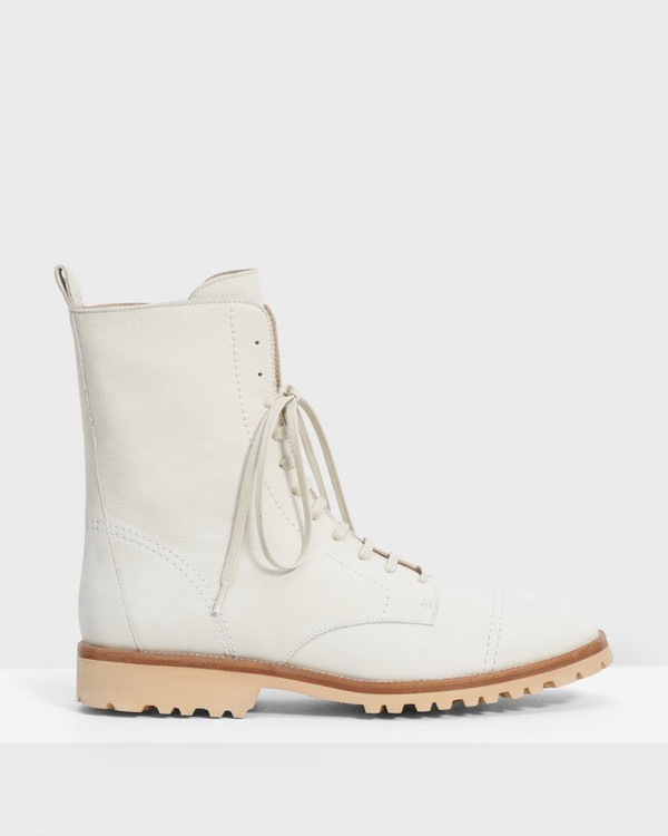 Laced Lug Boot in Nubuck Leather