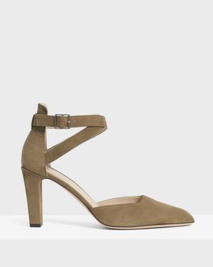 Ankle Wrap Heel in Nubuck