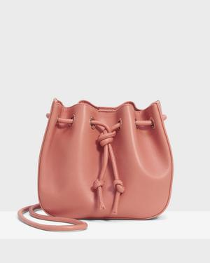 Micro Bucket Bag in Leather