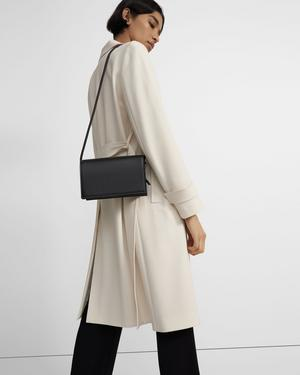 Flat East-West Bag in Leather