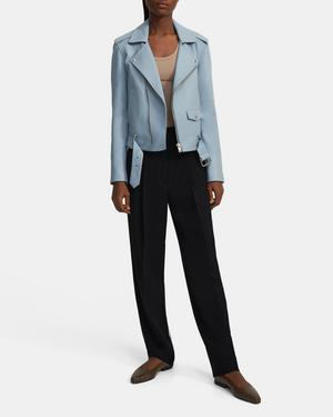 Casual Moto Jacket in Leather