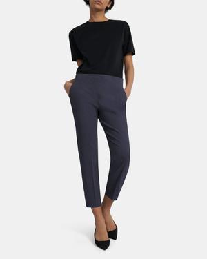 Treeca Side Zip Pant in Good Linen