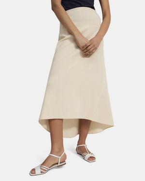 High-Low Maxi Skirt in Good Linen