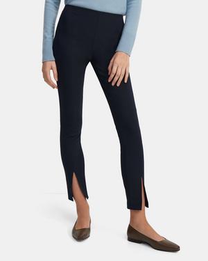 Slit Legging in Eco Stretch Cotton