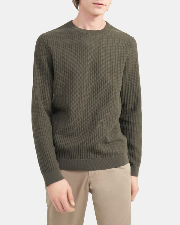 Crewneck Sweater in Cotton Breach