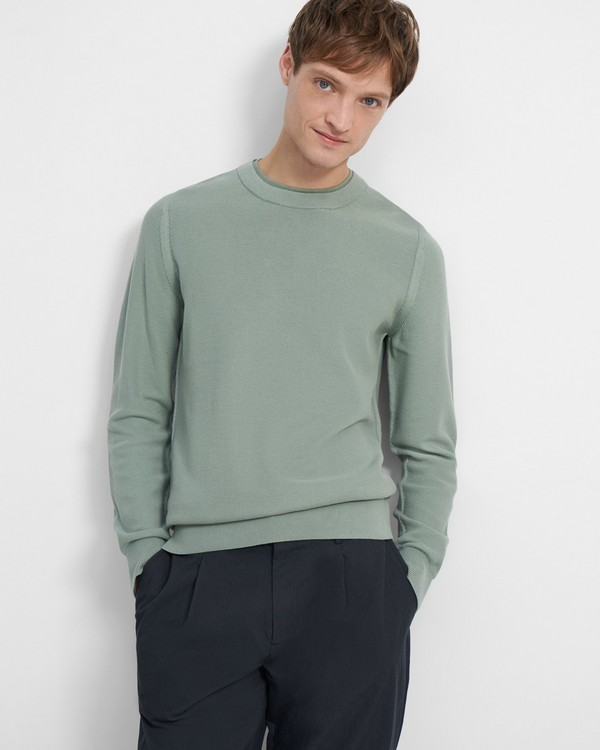 Honeycomb Knit Pullover in Organic Cotton