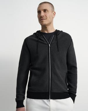 Ribbed Zip Hoodie in Organic Cotton