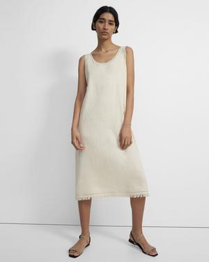 Scoop Tank Dress in Linen