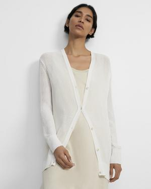 Relaxed Cardigan in Cotton
