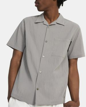 Short-Sleeve Shirt in Piqué Nylon