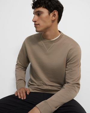 Crewneck Pullover in Terry Cotton