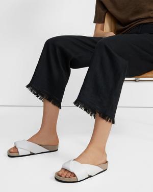 Folded Slide in Leather