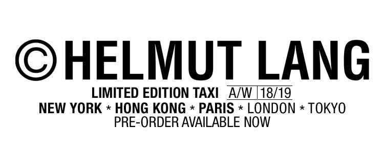 Helmut Lang Mobile Taxi Pre-order