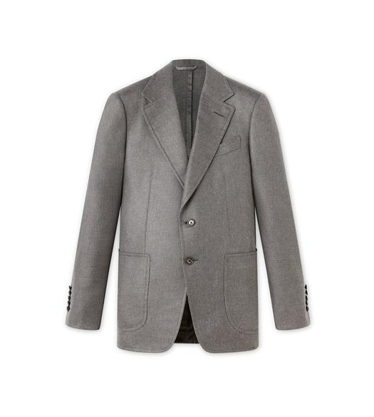 GREY SILK SHELTON SPORT JACKET