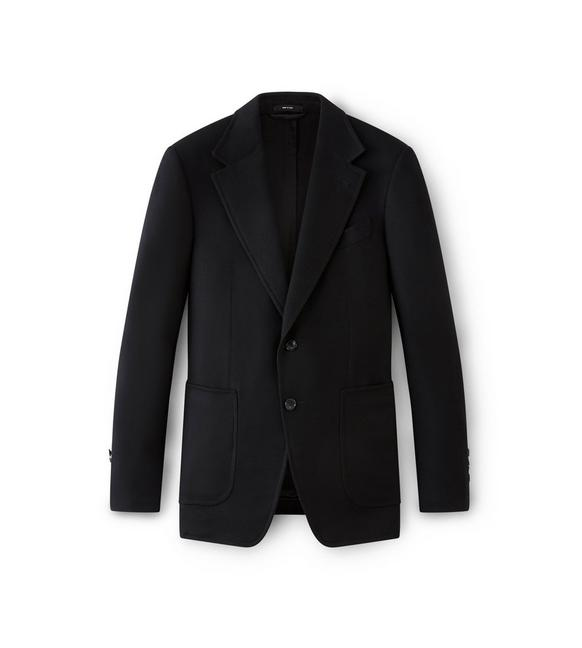 BLACK SHELTON JACKET WITH SUEDE PATCHES A fullsize