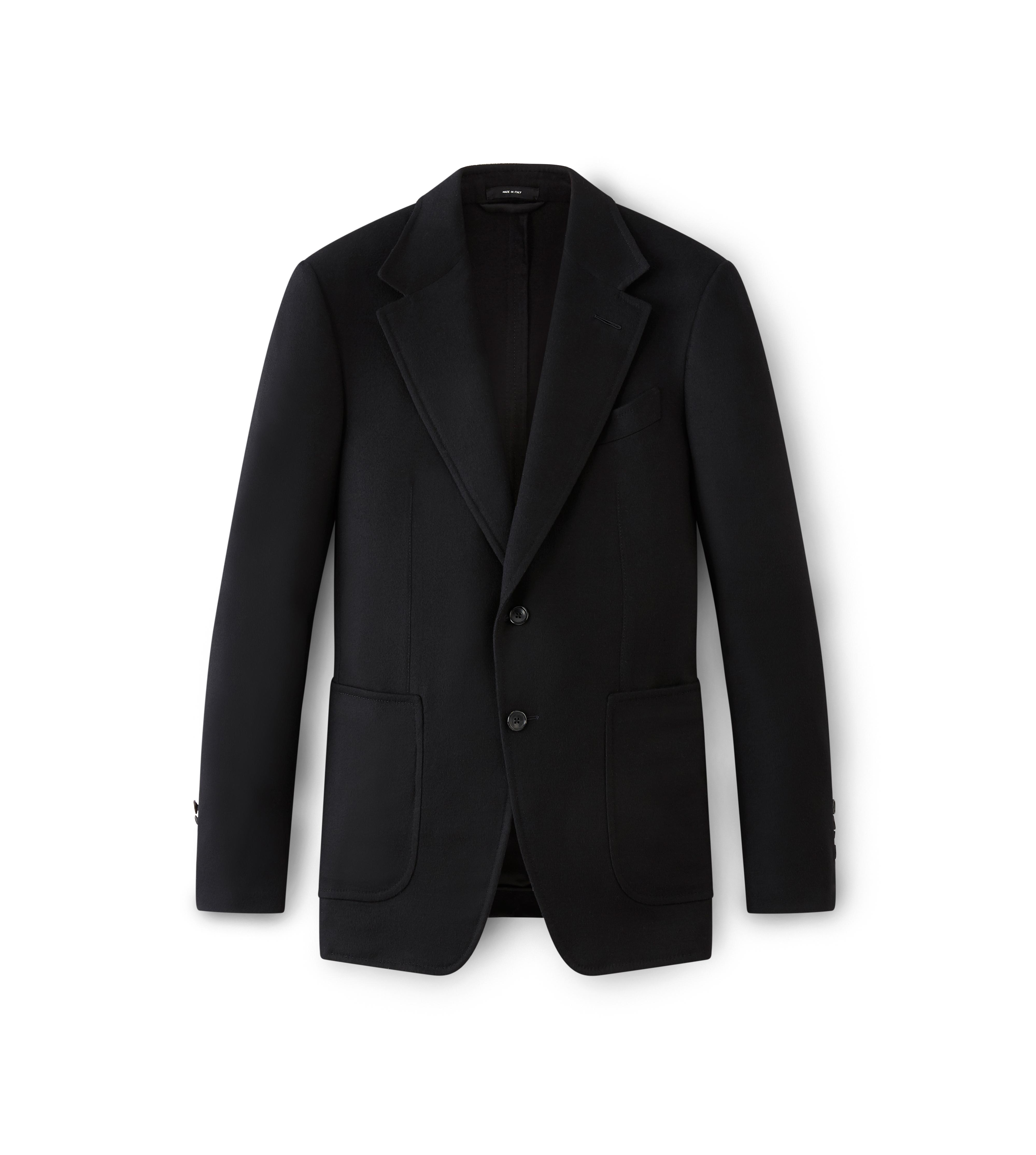BLACK SHELTON JACKET WITH SUEDE PATCHES A thumbnail