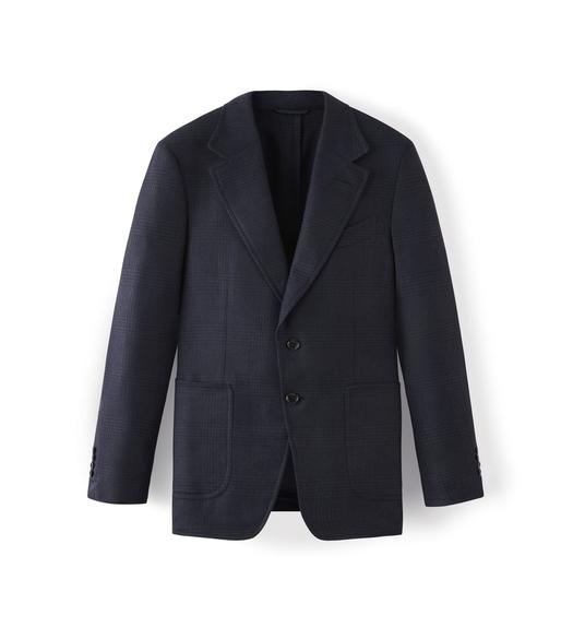 NAVY CASHMERE SHELTON JACKET