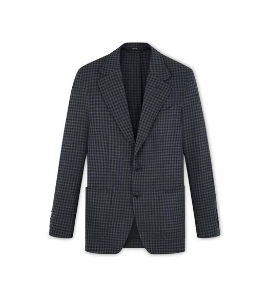 CHARCOAL GINGHAM SHELTON JACKET