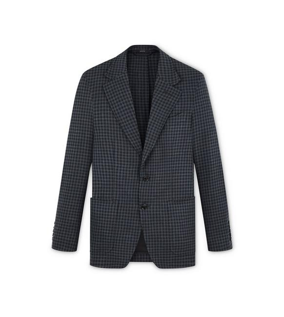 CHARCOAL GINGHAM SHELTON JACKET A fullsize