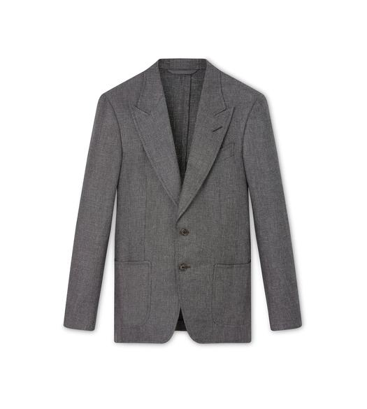 GREY SHARKSKIN SHELTON SPORT JACKET