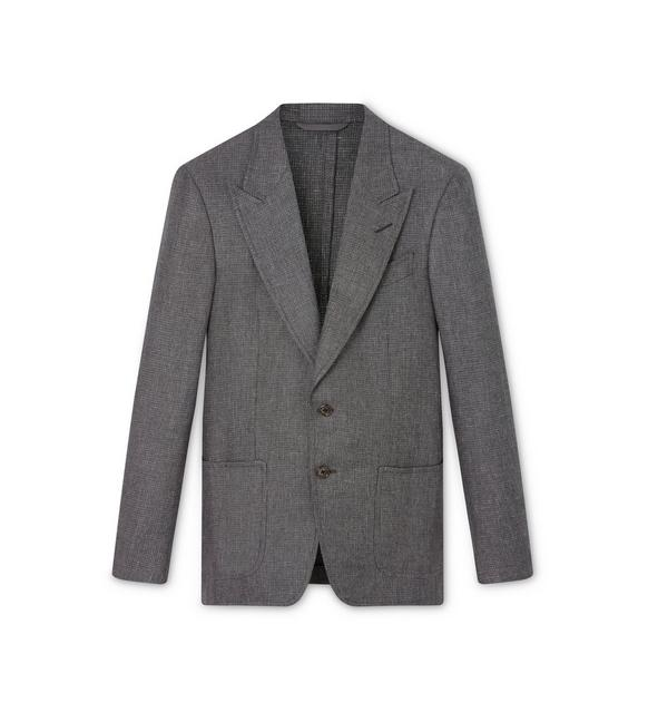 GREY SHARKSKIN SHELTON SPORT JACKET A fullsize