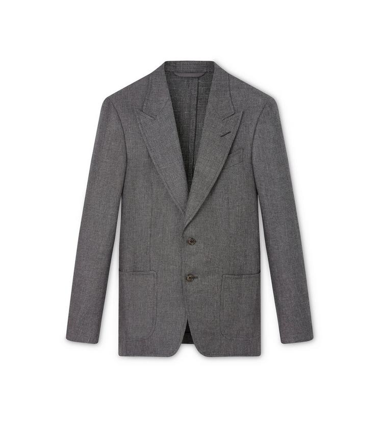 SHARKSKIN MICRO CHECK SHELTON LIGHT CONSTRUCTION JACKET A fullsize