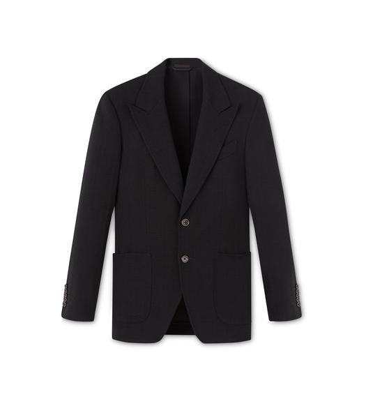 BLACK VISCOSE SHELTON SPORT JACKET