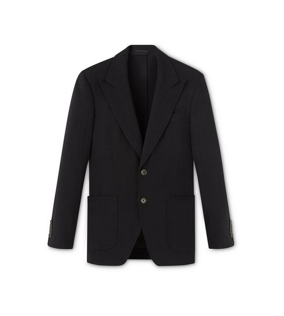 BLACK VISCOSE SHELTON SPORT JACKET A fullsize