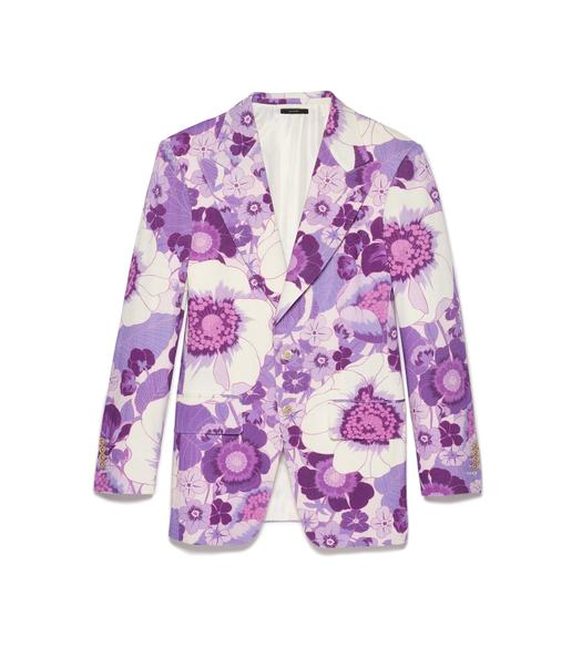 GRAPHIC POPPY PRINT ATTICUS JACKET