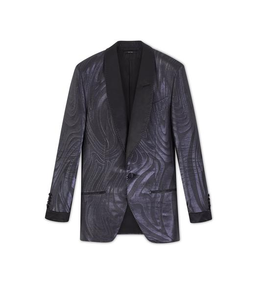 BLACK JACQUARD ATTICUS COCKTAIL JACKET