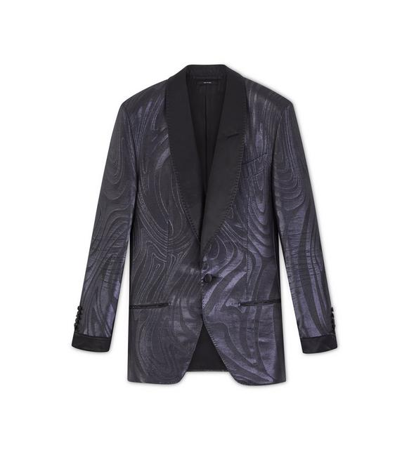 BLACK JACQUARD ATTICUS COCKTAIL JACKET A fullsize
