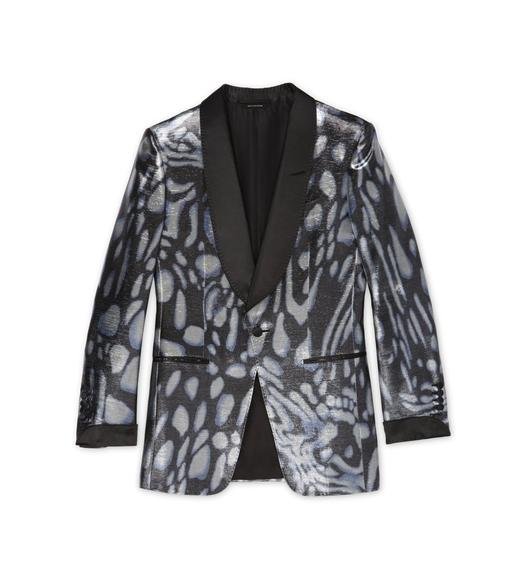 BLUE SWIRL ATTICUS COCKTAIL JACKET