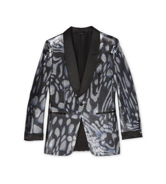 BLUE SWIRL ATTICUS COCKTAIL JACKET A fullsize