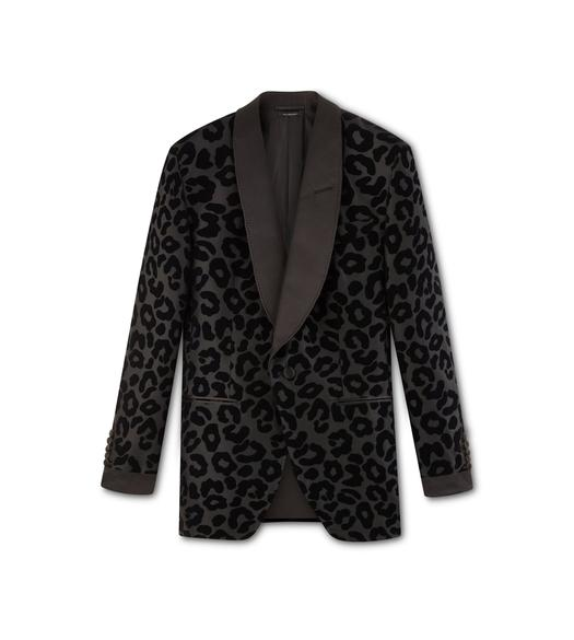 BLACK LEOPARD PRINT ATTICUS COCKTAIL JACKET