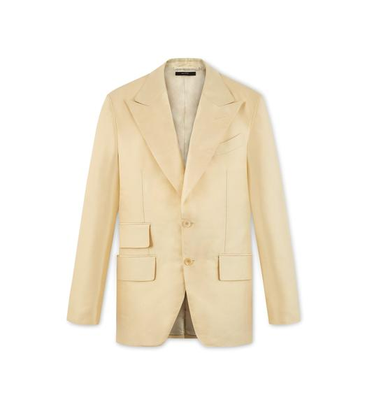 YELLOW SILK ATTICUS JACKET