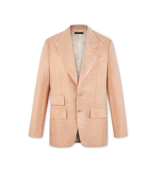 PEACH SILK ATTICUS JACKET
