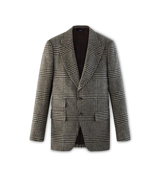 BROWN TWEED CHECK ATTICUS JACKET