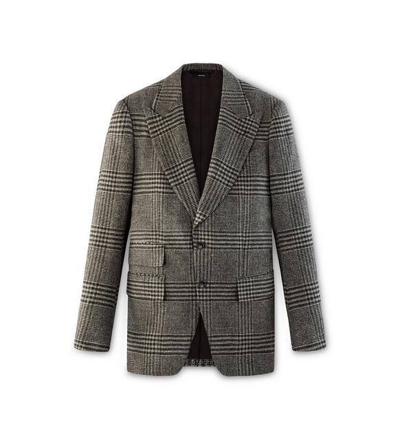BROWN TWEED CHECK ATTICUS JACKET A fullsize