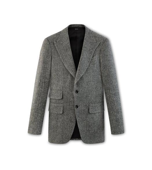 HERRINGBONE TWEED ATTICUS JACKET